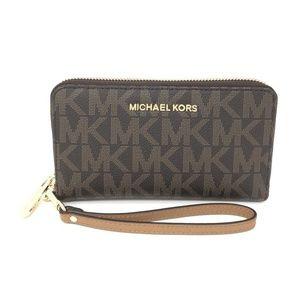 Michael Kors Brown Large Phone Case Wallet